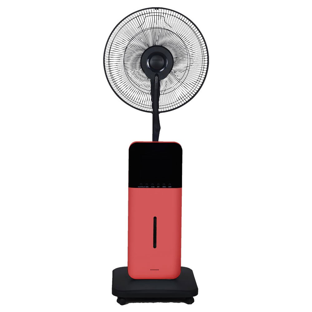CoolZone by Sunheat CZ500 Misting Fan Ultrasonic Dry Misting Fan in Red with Bluetooth Technology by CoolZone by Sunheat