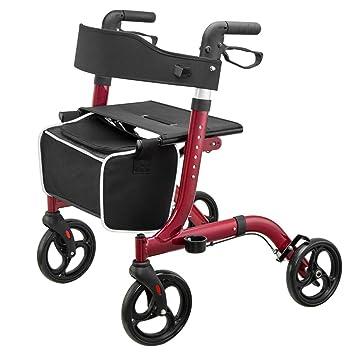 Fenglig Andador de Andador Ultra Plegable con Asiento Ancho ...