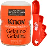 By The Cup Bundle - Knox Unflavored Gelatine, 16 Oz with BYTC Swivel Measuring Spoons