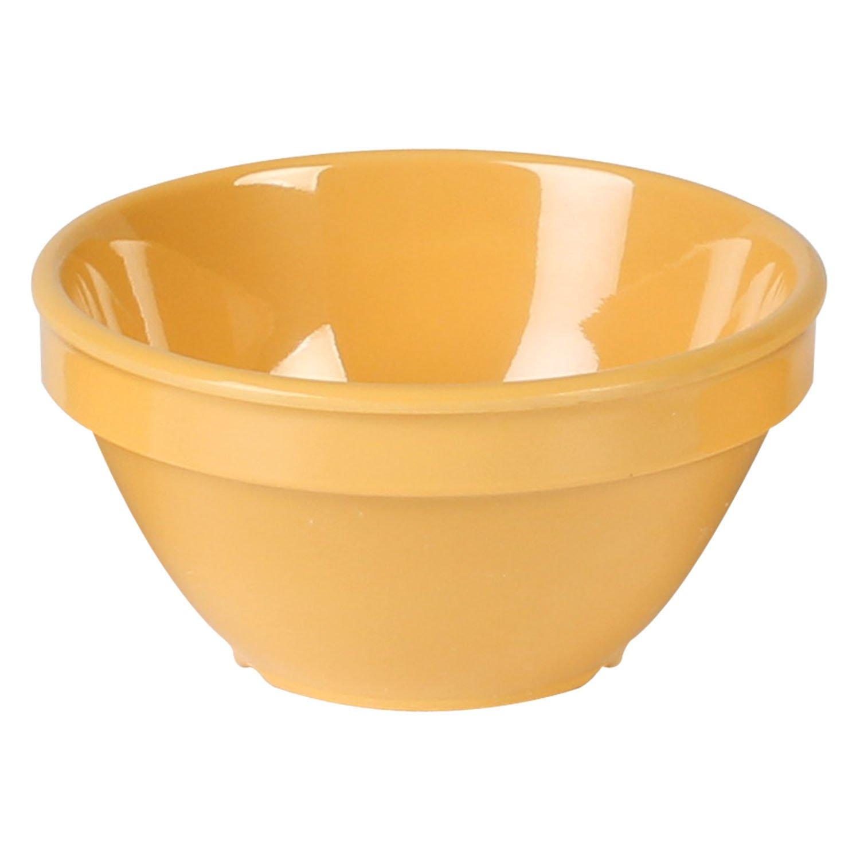 Excellanté Yellow Melamine Collection 4-1/4-Inch Bouillon Cup, 8-Ounce, Yellow, 12-Piece