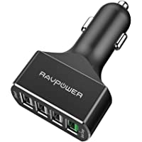 RAVPower Quick Charge 3.0 54W 4-Port Car Charger