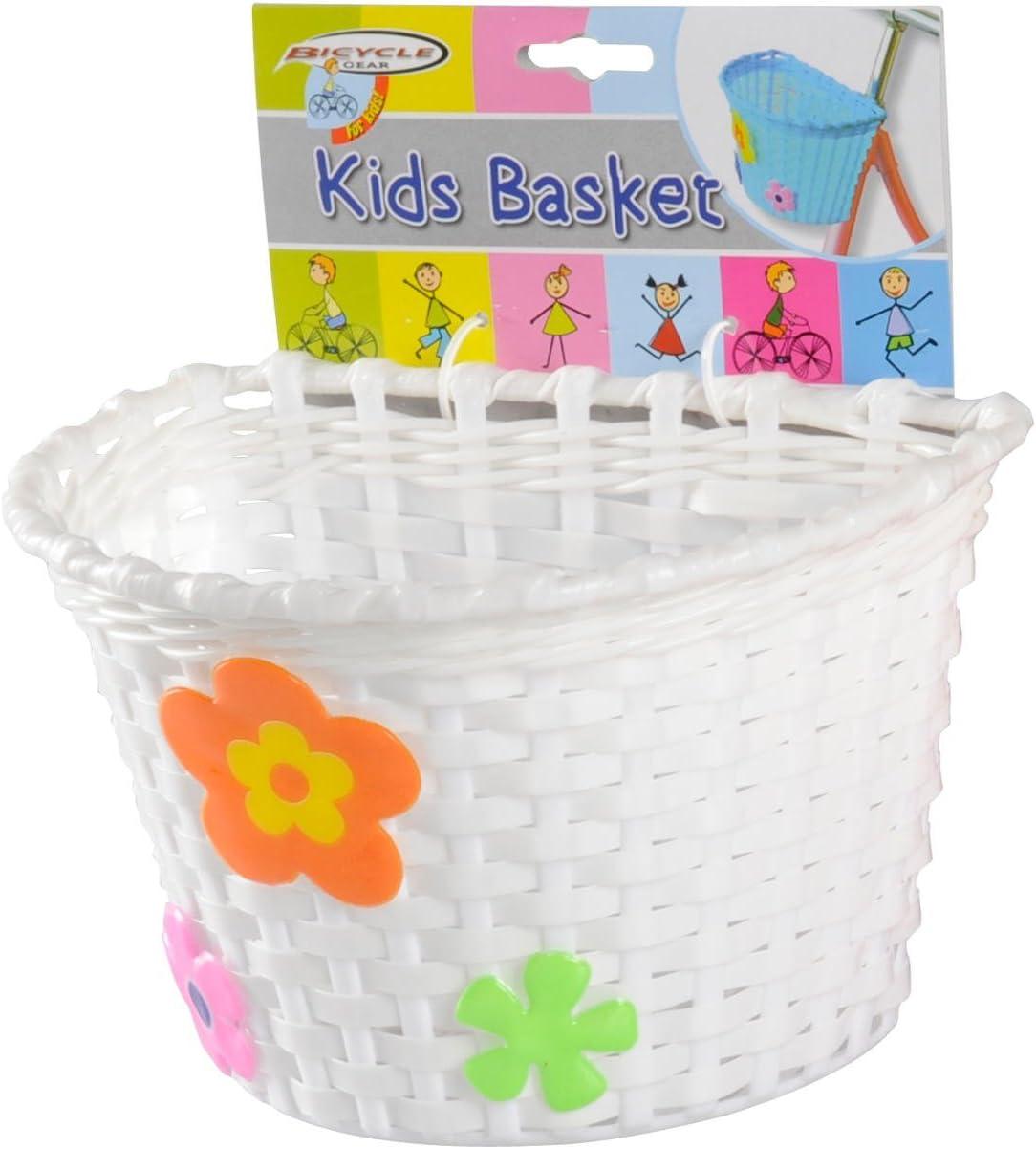 Cesta de bicicleta para niño cesta, para manillar, rosa, azul o blanca