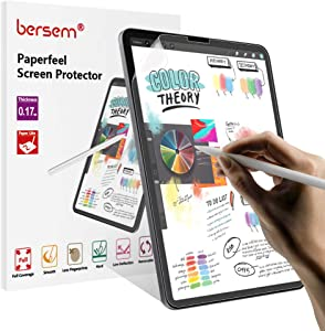 BERSEM[2 Pack]Paperfeel iPad Pro 12.9 Screen Protector (2020 & 2018 Models Without Home Button),Paperfeel iPad pro 12.9 Matte PET Film for Drawing Anti-Glare and Paperfeel