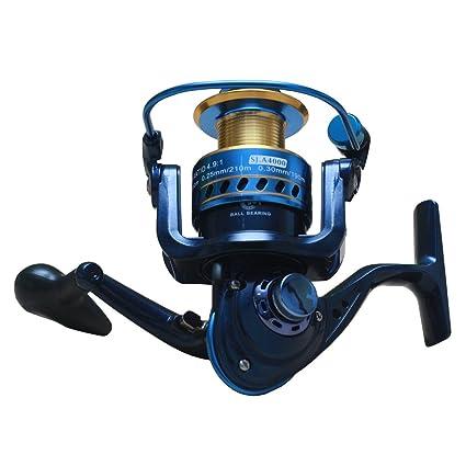 himenlens Spinning Carretes de pesca engranajes de acero ...