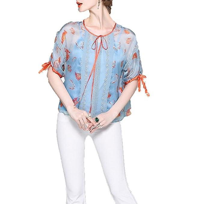 Las De Manga Única Up Seda Mujeres Niais Elegante Camiseta Lace FTw6PHq