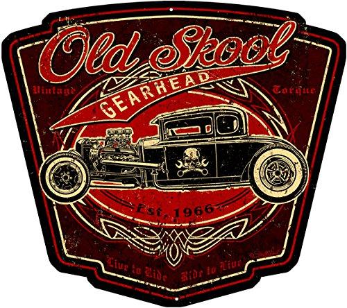 (Garage Art Signs Hot Rod Old Skool Gearhead Garage Art 15x13)