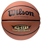 Wilson All Star Outdoor Basket Ball Competitive Match Ultimate RuBBer Basketball One Size Brown