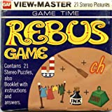 Classic ViewMaster - GAME TIME - Rebus Games - ViewMaster Reels 3D - Unsold store stock - never opened