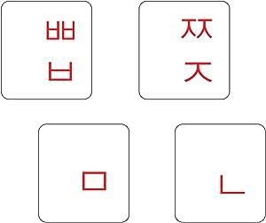 2PCS Pack Transparent Korean Keyboard Stickers, Korean Keyboard Replacement Sticker with Transparent Background and Red Lettering for Computer Notebook Laptop Desktop Keyboards