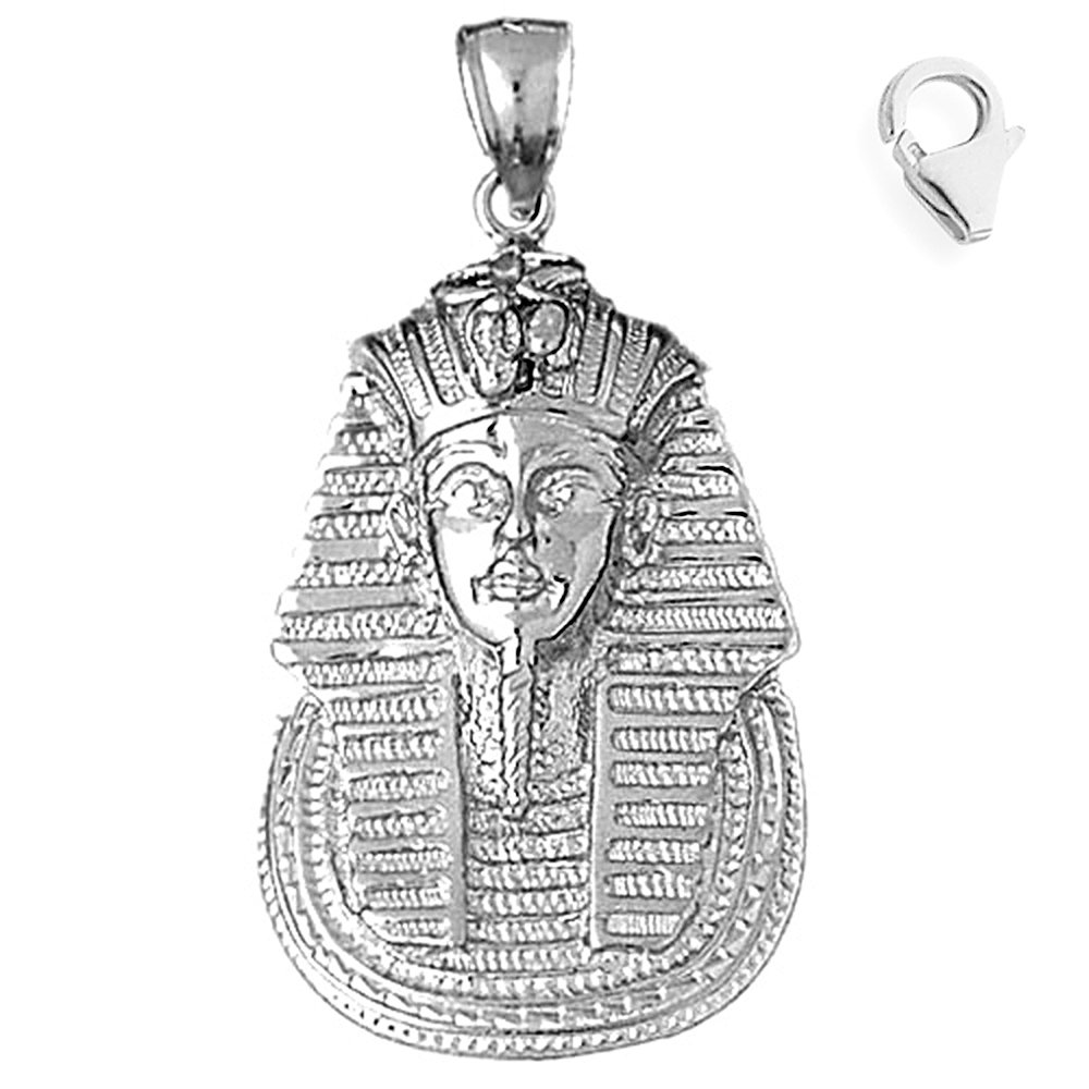 Jewels Obsession King Tut Pendant Sterling Silver 44mm King Tut with 7.5 Charm Bracelet