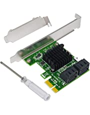 4-Port SATA III 6Gbps PCIE Controller Card Support HyperDuo SSD Tiering IPFS Hard Disk Port Multiplier,Ubit SA3004 Expansion Card for Desktop PC