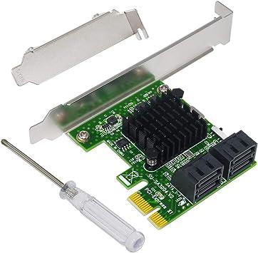 Ubit 4 Puertos SATA III 6 Gbps PCIE Raid Host Controller Card ...