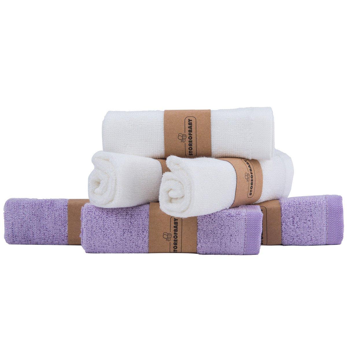Storeofbaby Paños de baño de bebé Reutilizable Ultra suave Toalla de mano pequeña 6 paquete de 10
