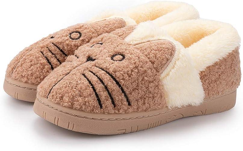 Toddler Boys Girls House Slippers Fluffy Little Kids Plush Warm Slippers Winter Non-Slip Bedroom Indoor Outdoor
