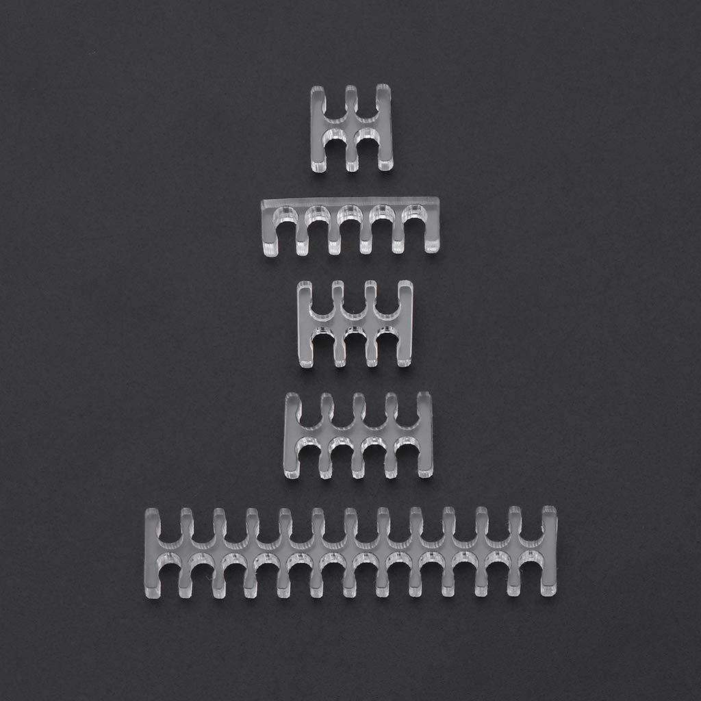 Junlinto transparenter Kabelkamm aus transparentem Acryl f/ür 2 mm Kabel PC Trandparant CPU 4PIN