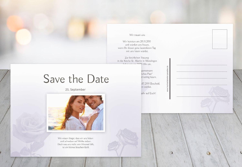 Kartenparadies Hochzeitskarte Save-the-Date Rosa, hochwertige Save the Date Karte zur Hochzeit   50 Karten - (Format  148x105 mm) Farbe  LilaFlieder