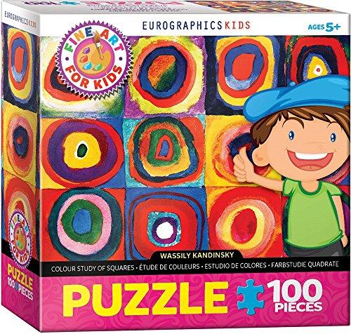 Wassily Kandinsky - Colour Study of Squares - 100 Piece Jigsaw Puzzle (Colour Study Kandinsky)