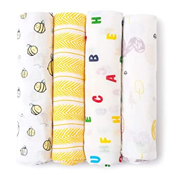 Baby Swaddle Blanket Upsimples Unisex Swaddle Wrap Soft Silky Bamboo Muslin