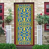 3D Muslim Creative Door Stickers Bedroom Doors Renovation Waterproof Stickers (A)