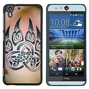 Stuss Case / Funda Carcasa protectora - Bear Claw Celtic Tinta Modelo de la piel - HTC Desire Eye M910x