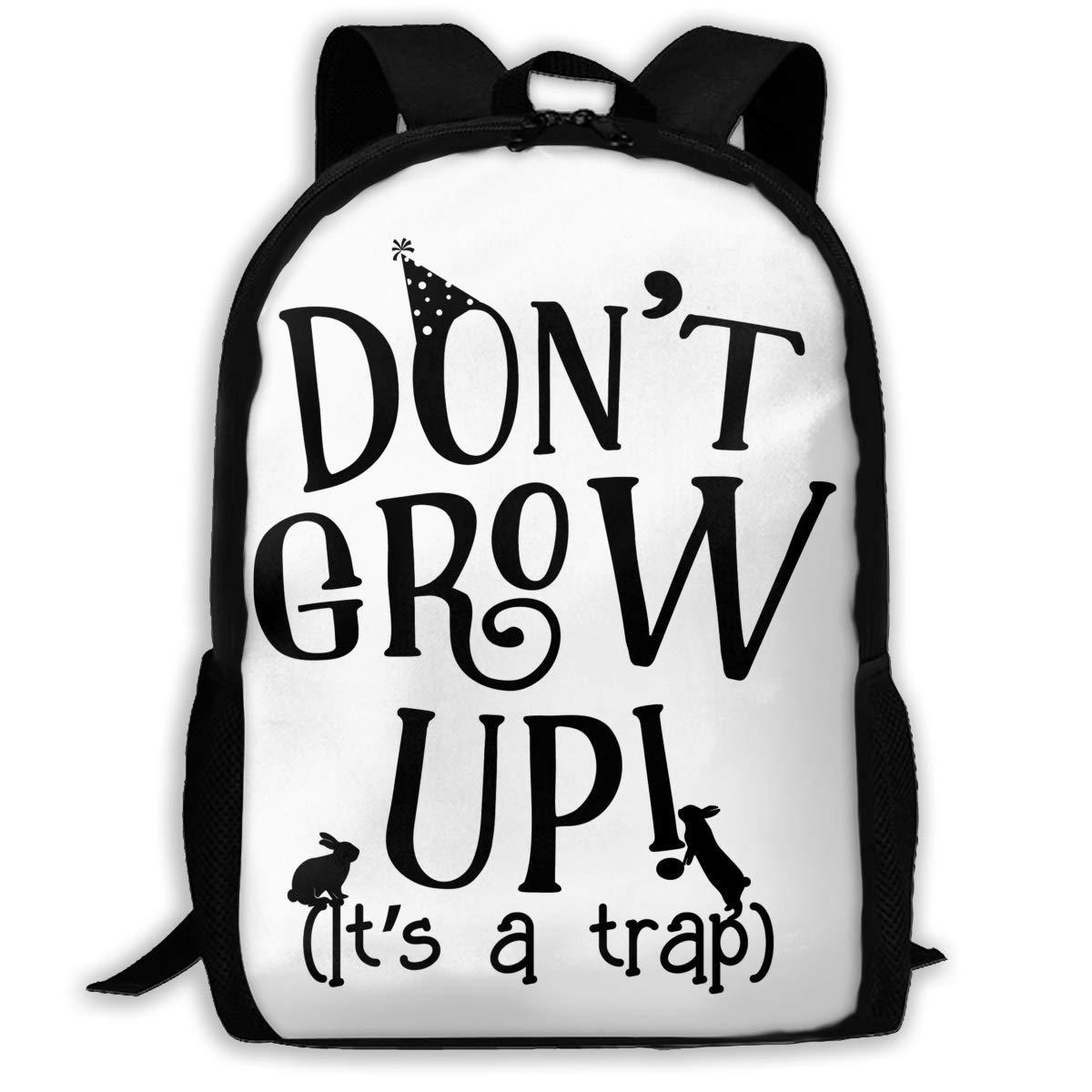 qihaoshangmao Backpacks Girl'S Shoulder Bag Daypack School Season Don't Grow Up It's A Trap Traveling Bags