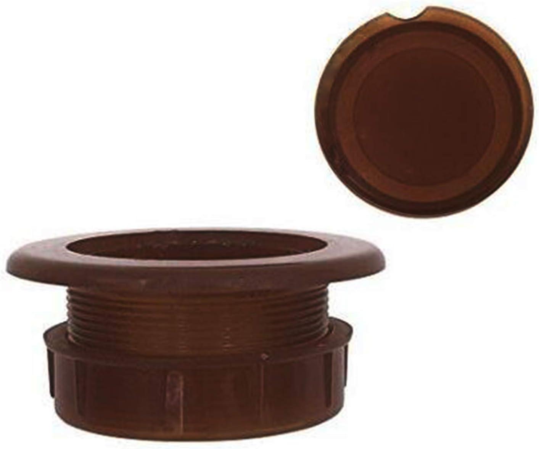 Do4U Patio Table Umbrella Parasol Hole Ring Plug and Cap Set (Dark Brown)