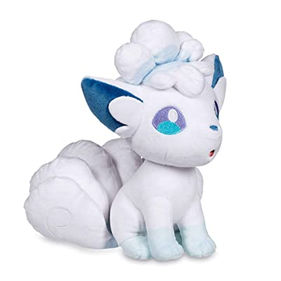 H&Store White Alolan Vulpix Plush Figure Stuffed Animal - 8 Inches - Perfect Baby Plush Toy…: Toys & Games