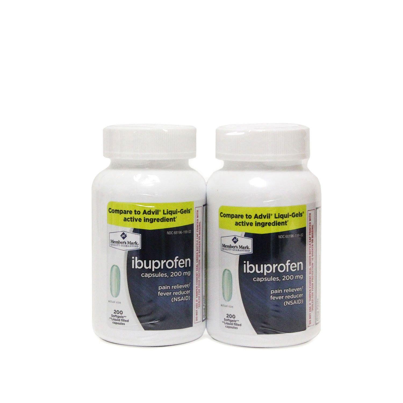 Member's Mark 200 mg Ibuprofen Softgel Tablets (200 ct., 2 pk.) (pack of 6)