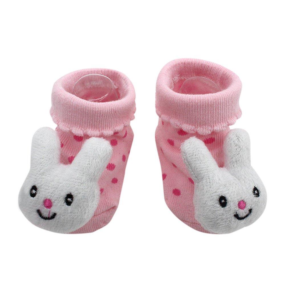 Baby Socken Winter, Covermason Säugling Kleinkind Baby Junge Mädchen Socken Baumwolle Cartoon Tiere Anti-Rutsch Gestrickt Warm Babysocken Slipper Schuhe Stiefel Covermason Baby Andy