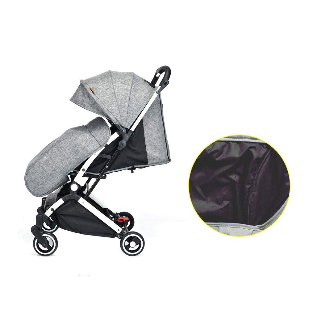 Dark Gray Universal Cosy Toes Stroller Cover Footmuff Toes Buggy Pushchair Warmer Accessories Compatible with Pushchairs Buggies Prams and Strollers