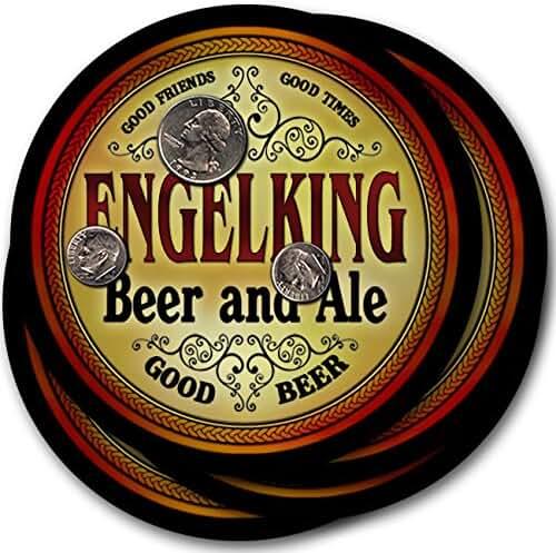 Engelking Beer & Ale - 4 pack Drink Coasters