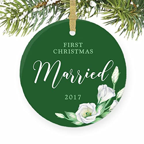 Amazoncom First Married Christmas Ornament 2017 1st Married