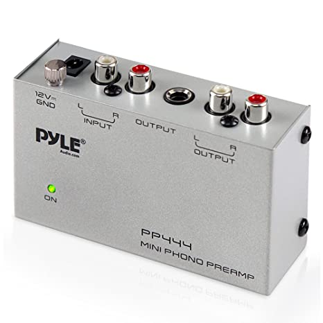 Pyle Phono Turntable Preamp - Mini Electronic Audio Stereo Phonograph  Preamplifier with RCA Input, RCA Output & Low Noise Operation Powered by 12  Volt