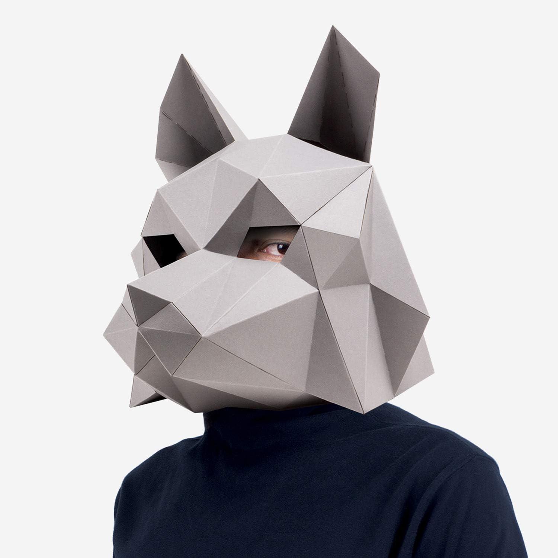 Print paper Panda mask. Animal mask + DIY homemade costume ideas! | 1500x1500