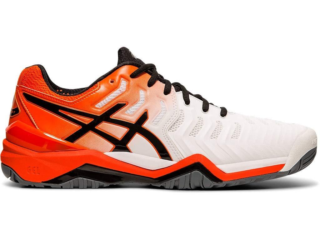ASICS Men's Gel-Resolution 7 Tennis Shoes, 6M, White/KOI
