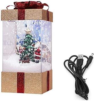 HLKJ Decoración De Navidad, Navidad Caja De Regalo con La Música Y ...