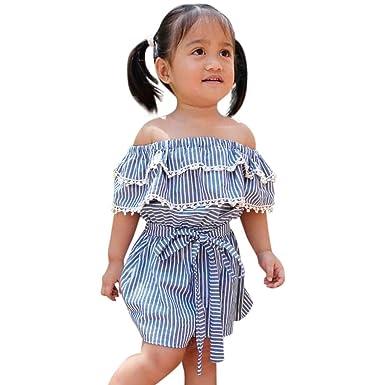 Amazon.com: Meisiqw Vestido corto sin tirantes para bebés y ...