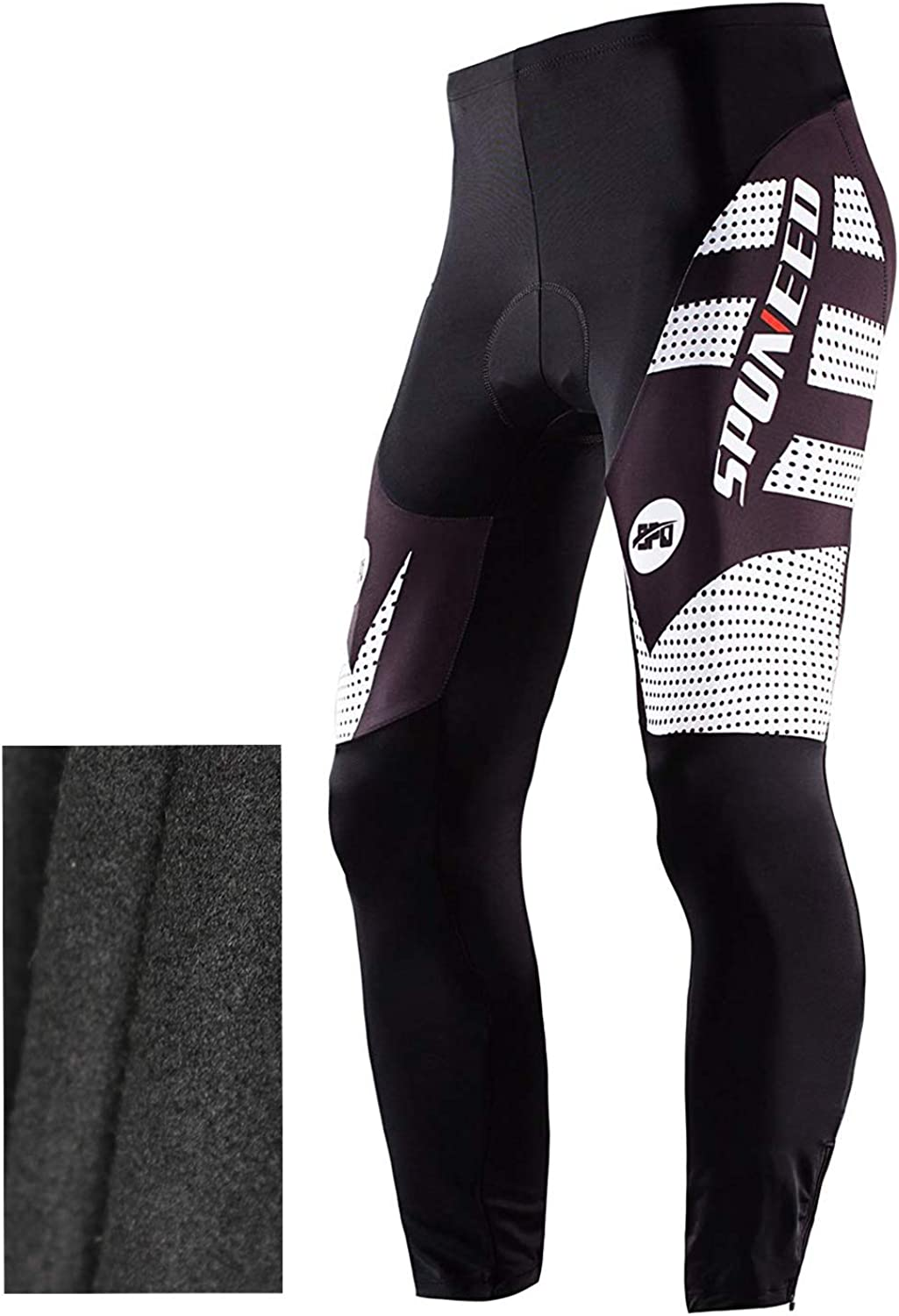 Mens Riding Bike Pants Bicycle Leggings with 4D Silicone Pad Cycle Wear M-3XL
