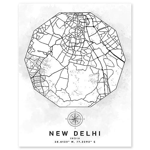 City Art Travel Memory Gift Gift for Mum New Delhi Art Gift for Dad India City Print India Print New Delhi Poster New Delhi Print