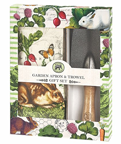 Michel Design Works Garden Apron and Hand Trowel Set, Garden Bunny