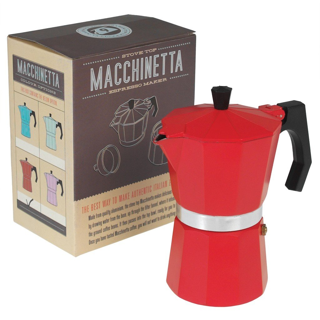 Choice Of Colour Red Classic Espresso Coffee Pot