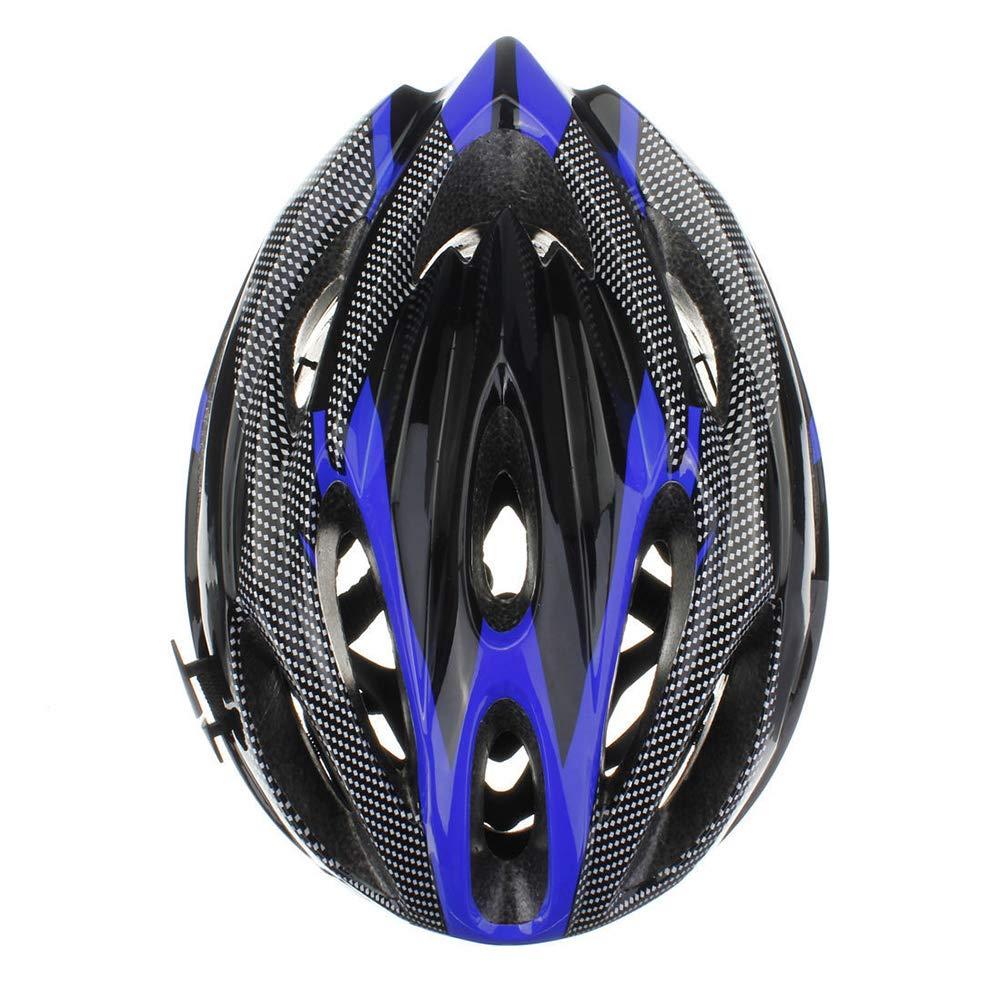 CAheadY Fibra de Carbono de Moda a Prueba de Golpes Casco de Ciclismo de Bicicleta de monta/ña Ajustable