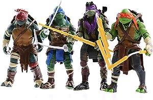 """JHZTOY 4PC Teenage Mutant Ninja Turtles 2014 Movie Edition Anime Vinyl Figure 5.9"""""""