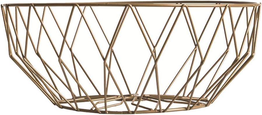 LUOXIN Arte de hierro europeo Frutero Sala de estar Plato de fruta Hogar Merienda Plato Cesta de almacenamiento en el hogar