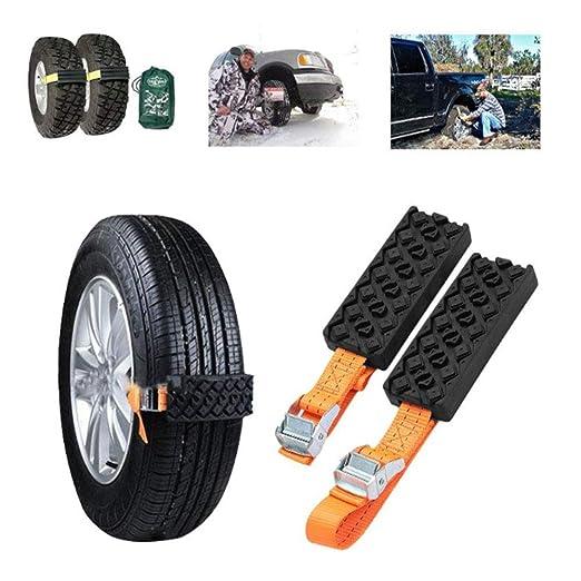 Emergencia coche neumáticos cadenas de nieve conjunto universal de ...