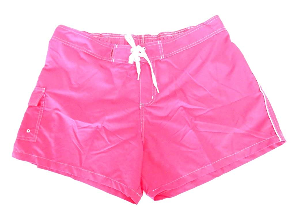 Ladies Missy and Plus Microfiber Shorts with Piping in Colors