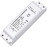 Kambo Transformador 220V a 12V LED Fuente de Conductor Alimentación LED 50W 230V 4.17A 1 Paquete Blanco para Bajo…