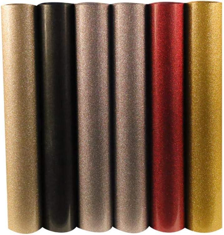 TTYAC 1 Hoja 30cmX100cm Glitter Transferencia de Calor Vinilo Plotter de Corte de Prensa de Calor HTV Iron On Film DIY, Champagne: Amazon.es: Hogar