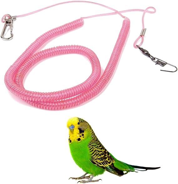 UEETEK 1 Pcs Loro Kit de correa para pájaros Cuerda de ...