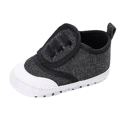 fbc47c9c954da Binmer(TM) Newborn Baby Boy Girl Shoes Crib Soft Sole Shoe Sneakers Blue